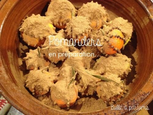 pomanders made in Bulle à parfums en préparation